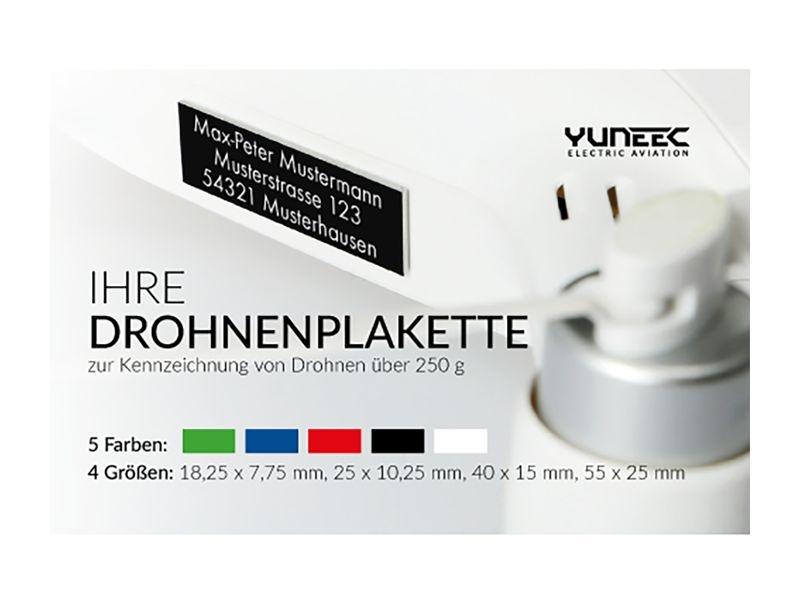 Plakette zur Kennzeichnung von Flugmodellen über 250g