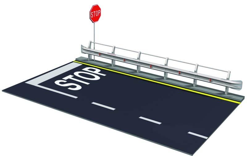 1:24 Leitplanke & Straßenabschnitt