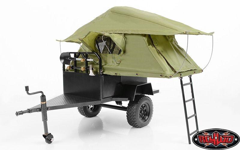 Bivouac 1/10 M.O.A.B Camping-Anhänger mit Zelt