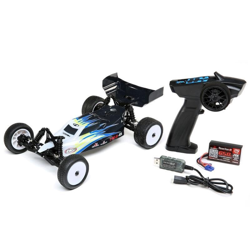 Mini-B 2WD Buggy 1:16 Brushed 2,4GHz RTR, schwarz/weiß