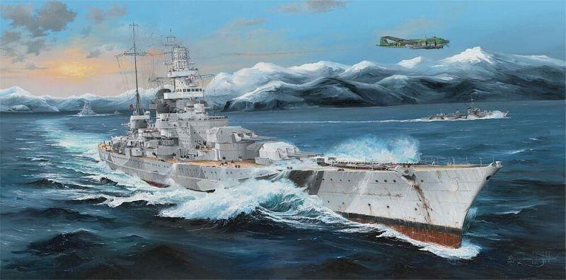 Schlachtschiff Scharnhorst 1:200 Bausatz