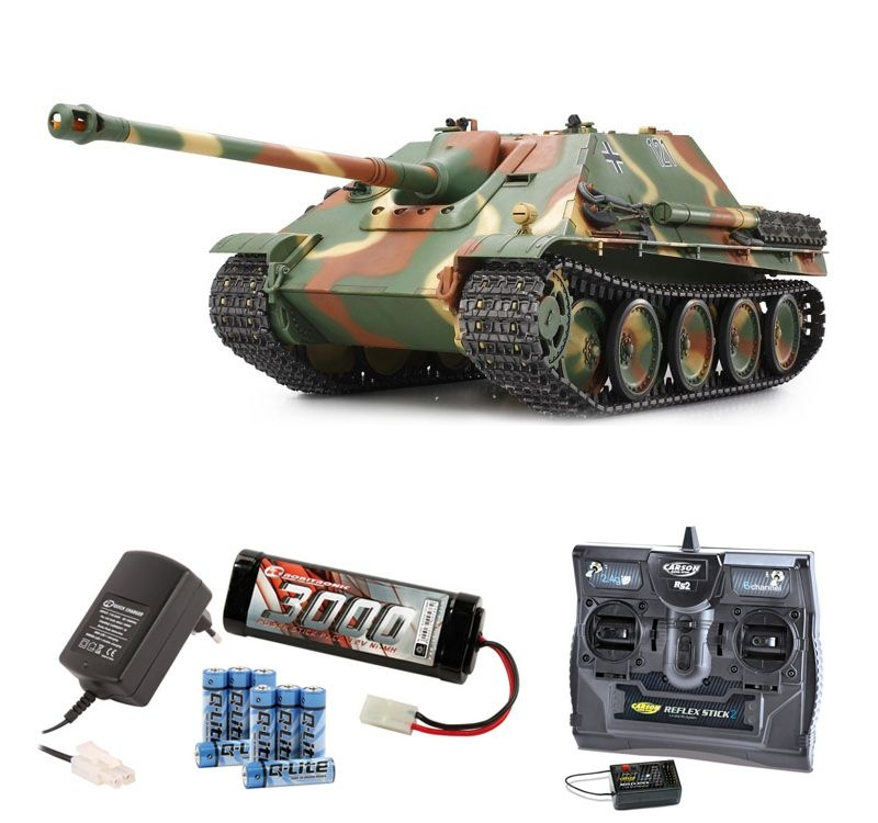 Jagdpanther Full Option 1/16 Panzer 2,4GHz Komplettset