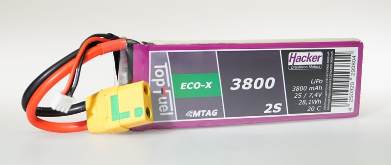 TopFuel LiPo Akku 20C Eco-X 3800mAh 2S MTAG, XT90