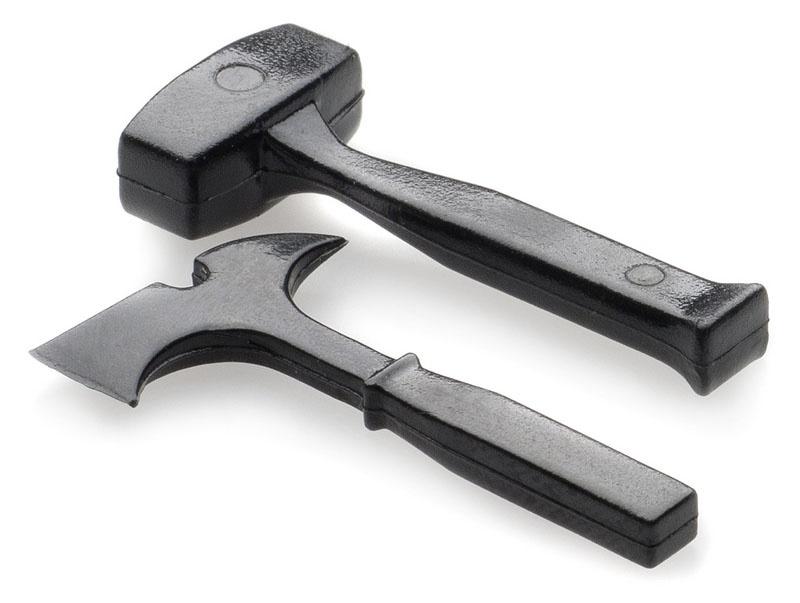 Axt & Hammer - schwarz (unlackiert)