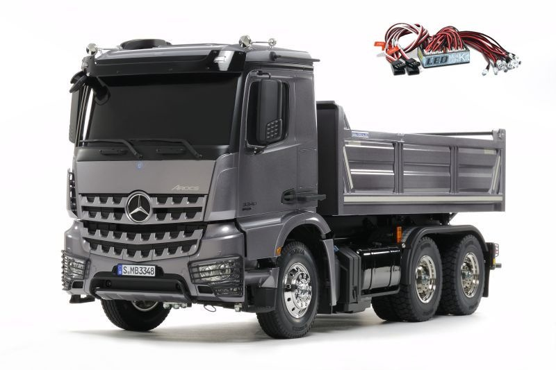 Mercedes Benz Arocs 3348 3-Achs Hinterkipper + LED-Lichtset