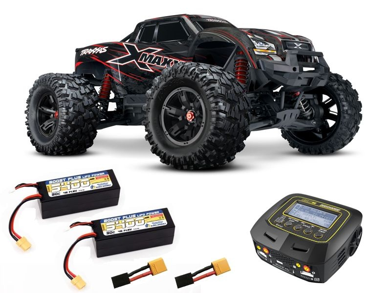 X-MAXX 8S 4WD Brushless Monstertruck +2x 4S Lipo, Duo Lader