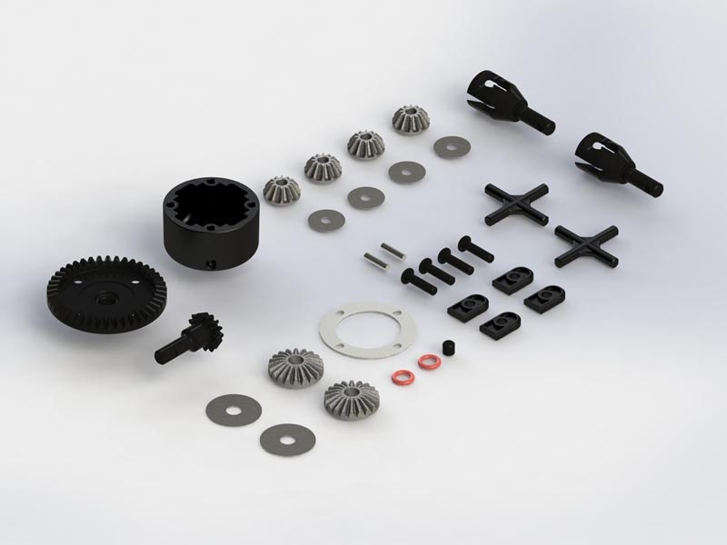 Gear Diff Set 43T Spiral Cut