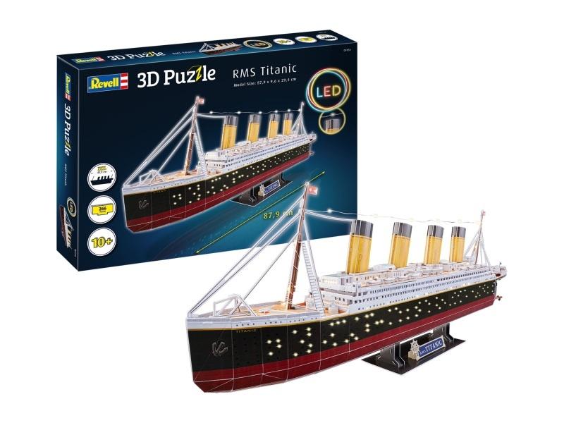 3D Puzzle RMS Titanic 266 Teile 87,9 cm LED beleuchtet