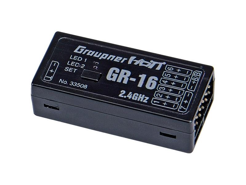 GR-16 HoTT 2.4 GHz 8-Kanal Empfänger