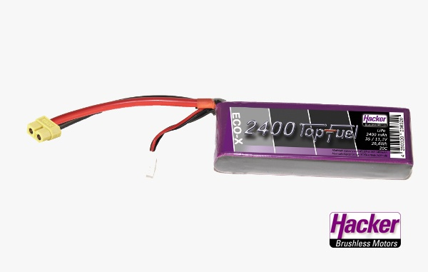 TopFuel LiPo 20C-ECO-X 2400mAh 3S XT60 Stecker