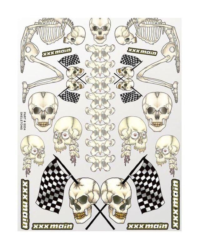 Dekorbogen Skeletons