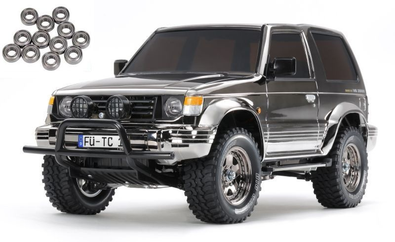 Mitsubishi Pajero Black Metallic 1/10 4WD Offroad CC-01 Kit
