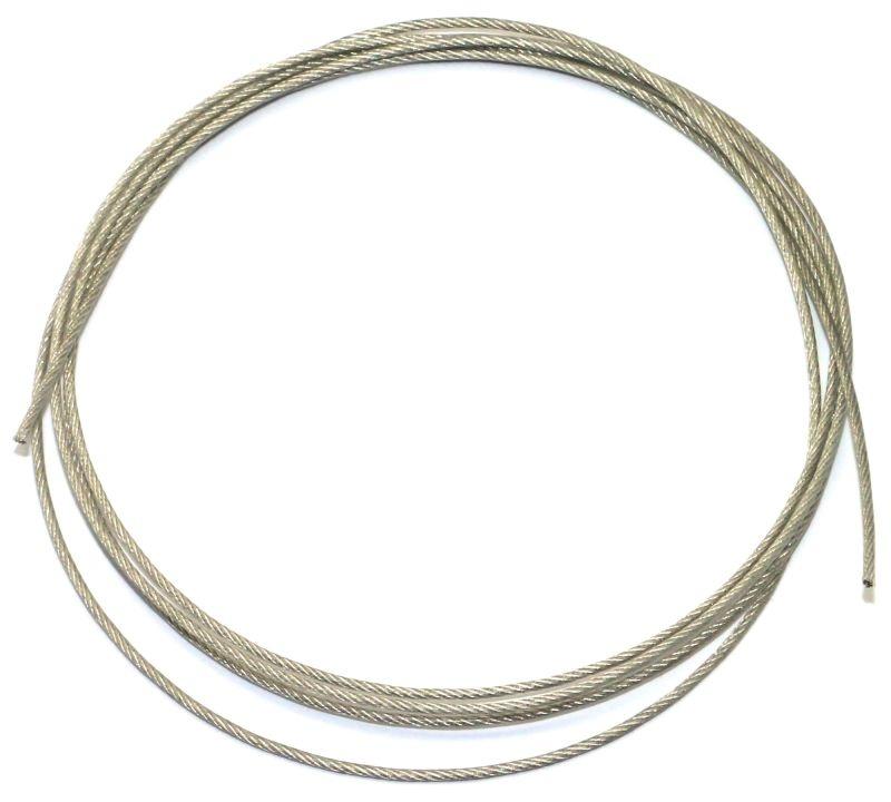 Stahlseil 1mm soft - silikonbeschichtet - (3m)