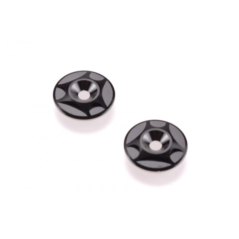Aluminium Heckflügelscheiben schwarz (2)