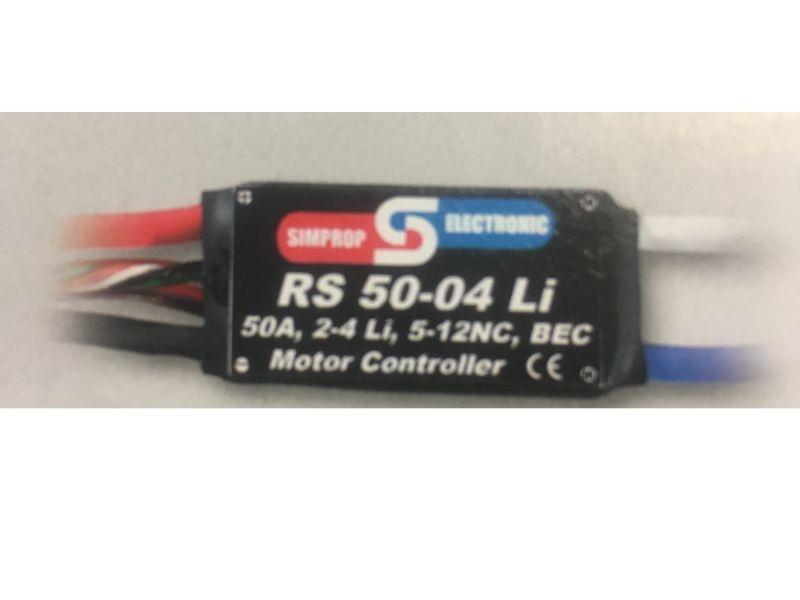 RS 50-04 LI Brushed Regler Lipo-fähig