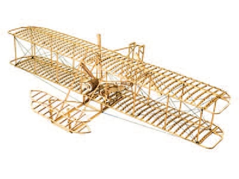 Wright-Flyer 1903 Doppeldecker 510mm Holzbausatz