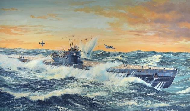 Deutsches U-Boot TYPE IX C (U505 late) 1:72
