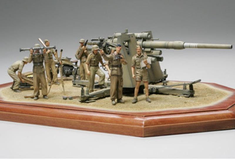 WWII Deutsche 88mm Flak36 Nord Afrika 1:35