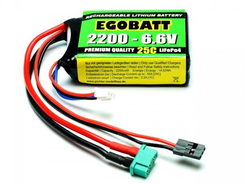 EGOBATT LiFePO4 2200mAh - 6.6V (25C) Empfängerakku