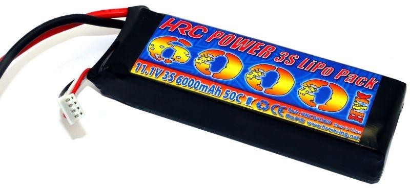 LiPo Akku 3S - 11.1V 6000mAh 50C/100C mit XT90 Stecker