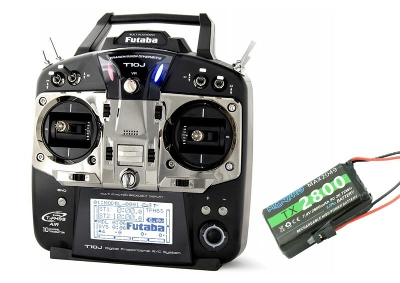 T10J Fernsteuerung mit Telemetrie + R3008SB + LiPo Mode 2