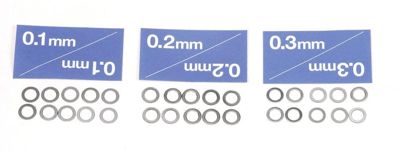 Distanzscheiben Set 5mm Passscheiben 30 Stück 0,1 0,2 0,3mm