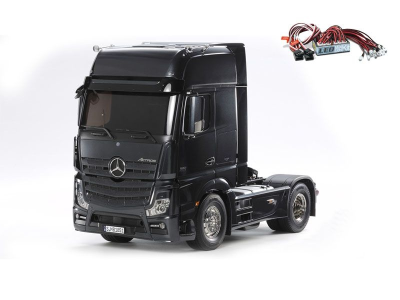 Mercedes Actros 1851 GigaSpace Black Edition + LED-Lichtset