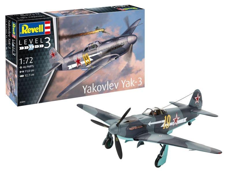 Model Set Yakovlev Yak-3 Jagdflugzeug 1:72 Bausatz + Farben