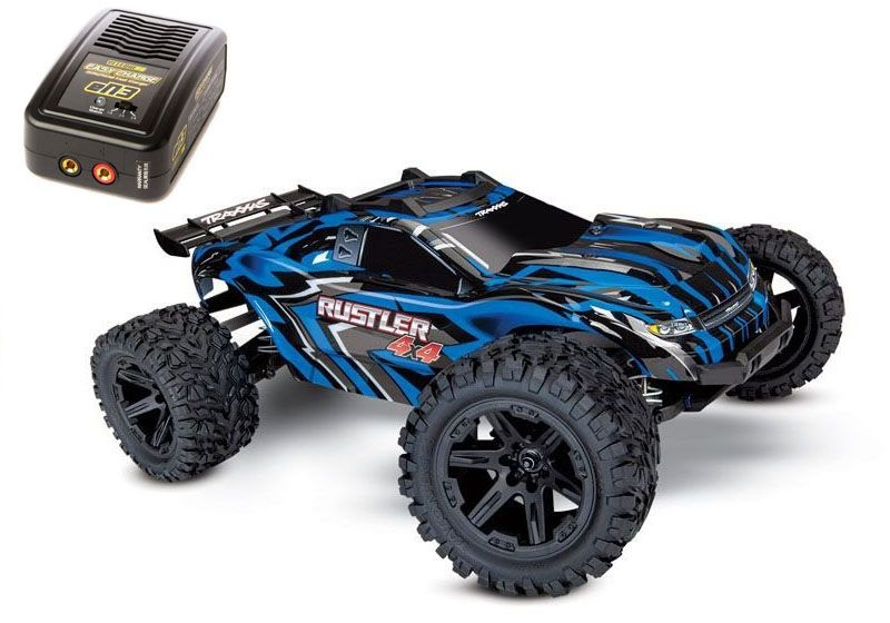 Rustler 4x4 1:10 Stadium Truck Blau mit Akku und AC+DC-Lader
