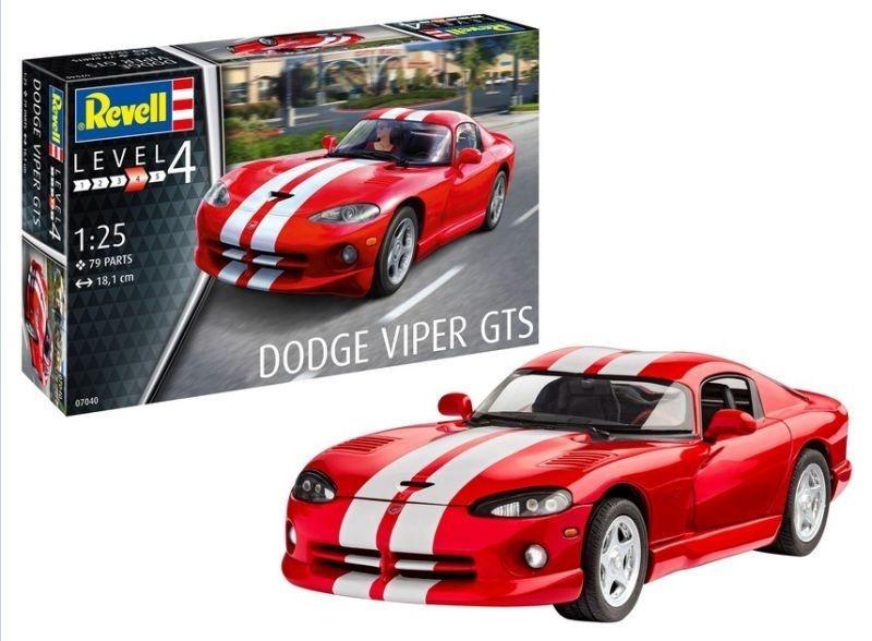 Model Set Dodge Viper GTS Sportwagen 1:25 Plastik Bausatz