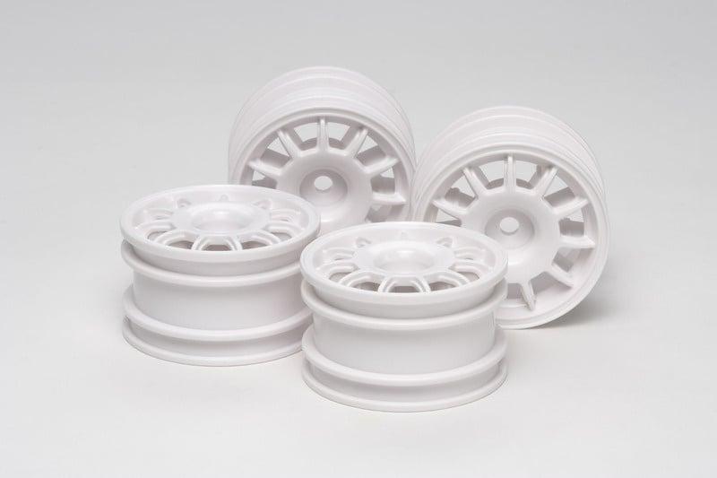Racing Speichenfelgen weiß (4) 1/10 für M-Chassis