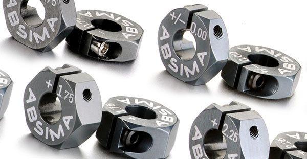 Aluminium 7075 T6 Radmitnehmer 12mm Offset -0.75mm 1:10 (2)