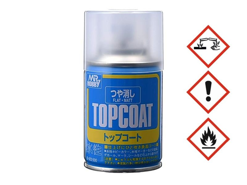 B-503 Mr. Top Coat Flat Spray 86 ml Klarlack matt