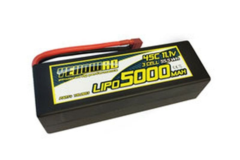 LiPo 5000mAh 11,1V 3S45C Hardcase Deans plug