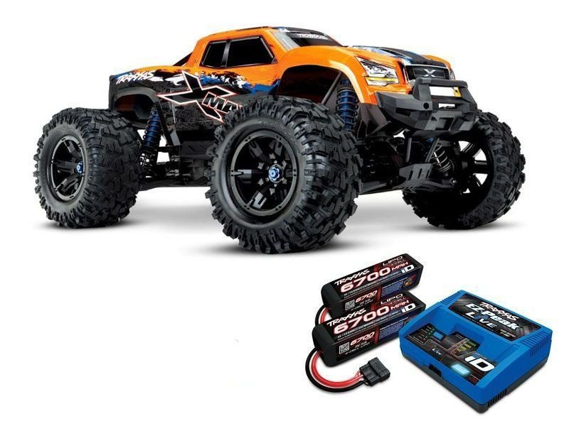 X-MAXX 4WD BLS Monstertruck TSM RTR orange + 8S LiPo, Lader