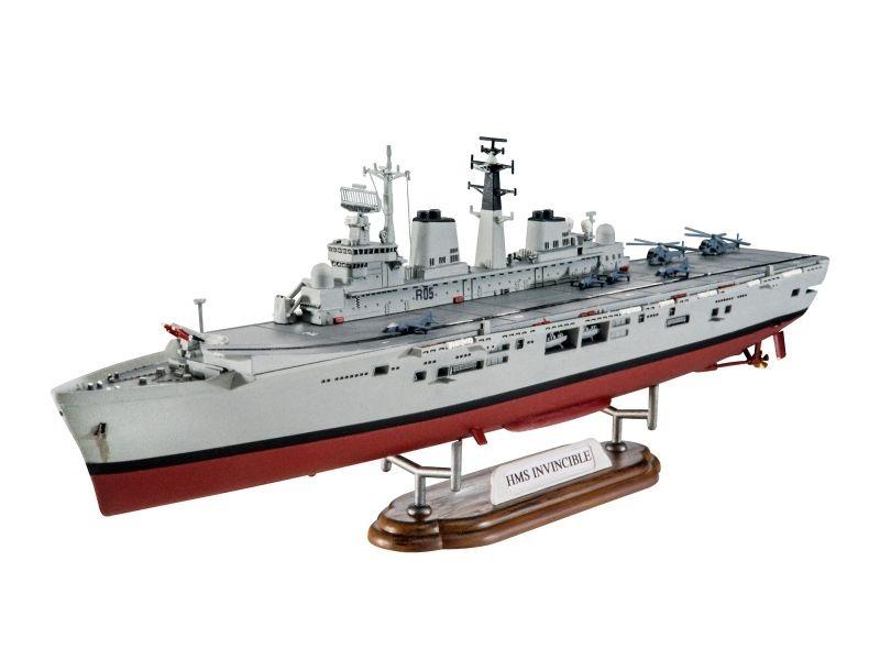 Model-Set HMS Invincible (Falkland War) Plastikbausatz 1:700