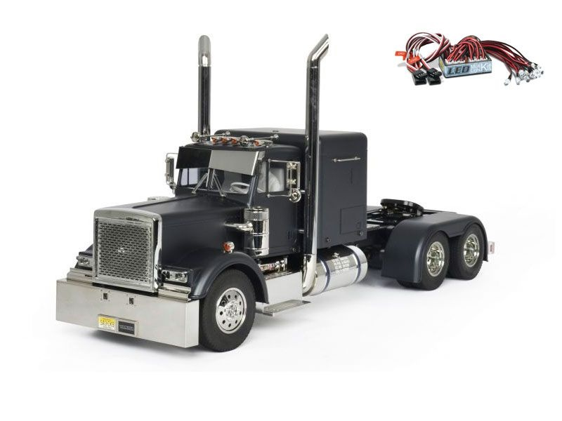 Grand Hauler schwarz matt Edition 1:14 inkl. LED-Lichtset