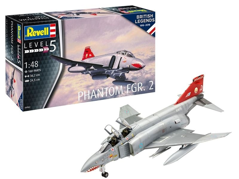 British Legends - Phantom FGR.2 Kampfflugzeug, 1:48
