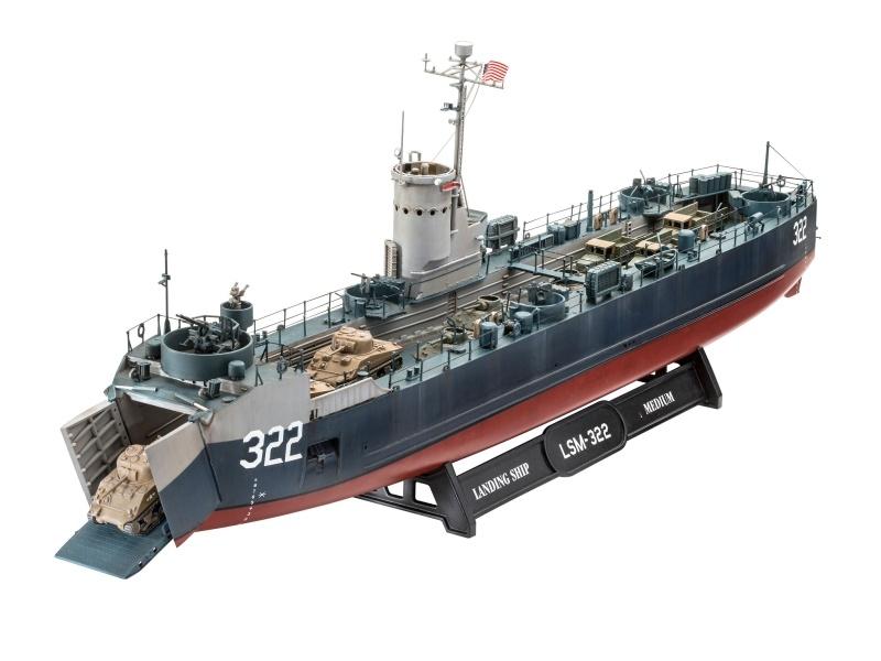 US Navy Landing Ship Medium Landungsschiff 1:144 Bausatz