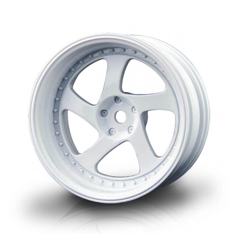 Drift Felge TMB +8mm Offset, 1/10, 12mm Hex, weiß (4 Stück)