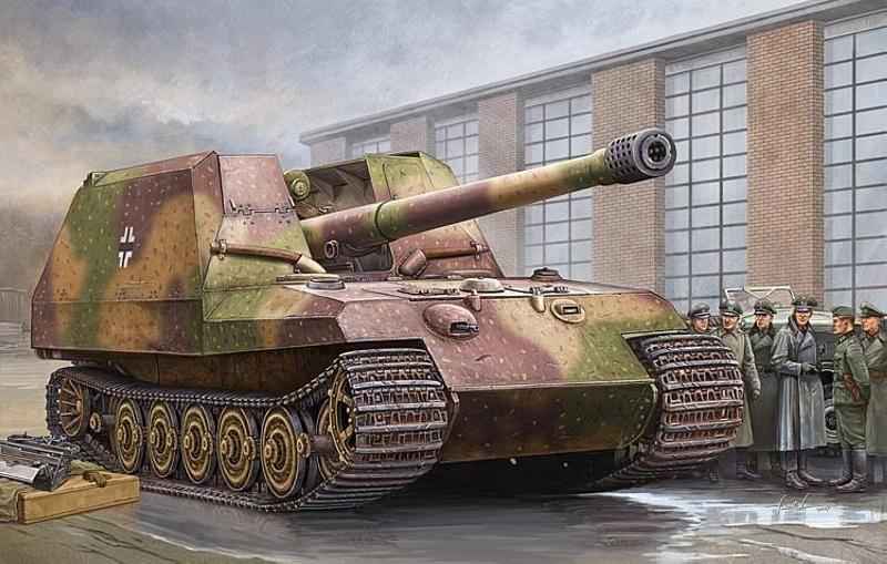 Deutscher Geschützwagen Tiger für 17cm K72 1:35 Bausatz