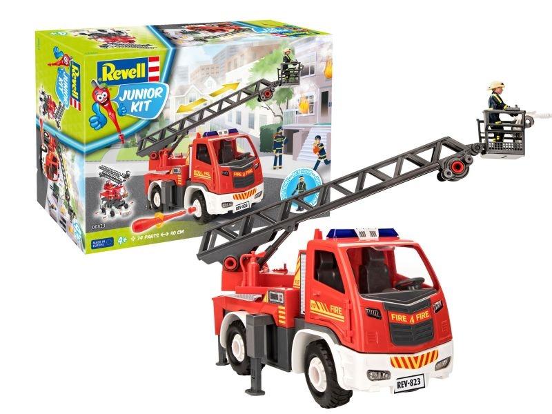 Junior Kit Feuerwehr Leiterwagen 1:20