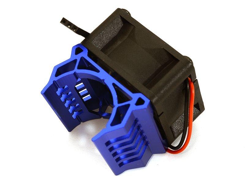 Alu Kühlkörper blau mit Lüfter für Brushless Motor Slash VXL