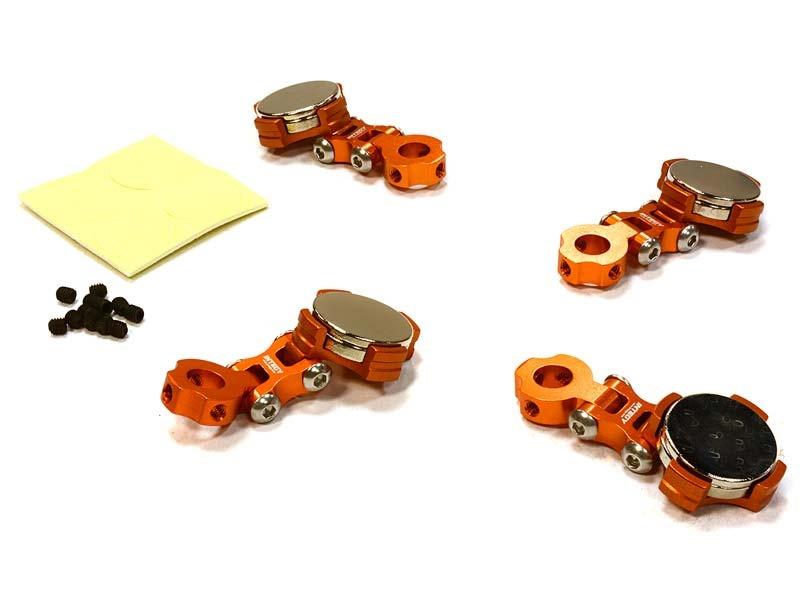Einstellbare Magnet Karosseriehalter orange für 1/10 Drift,