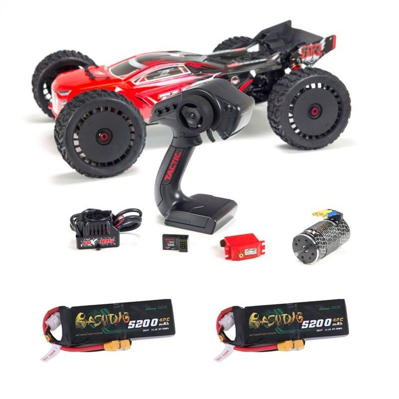 Talion 6S BLX 4WD - 1/8 Brushless Truggy RTR rot + 2x3S LiPo
