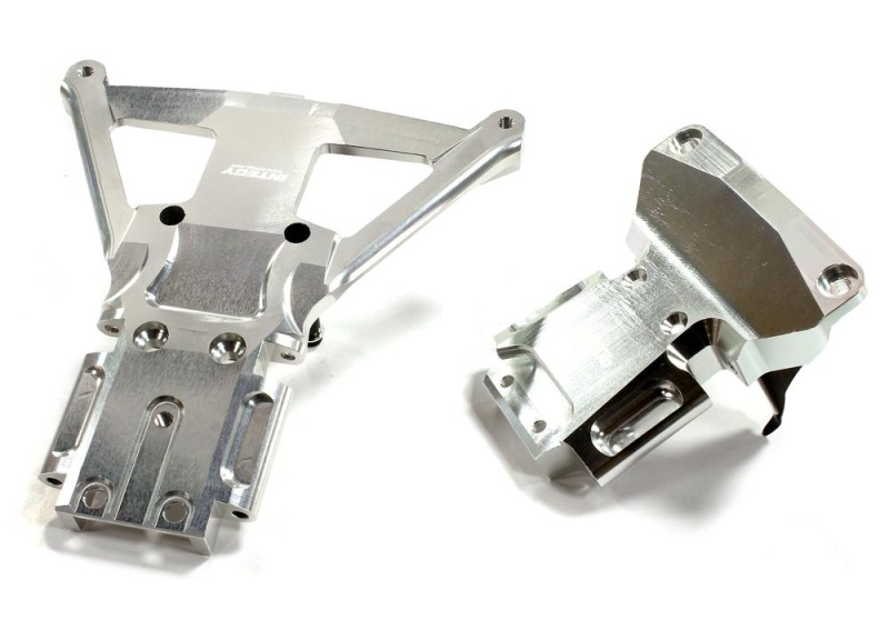CNC Alu Bulkhead vorne & hinten für Traxxas Slash 4X4 LCG