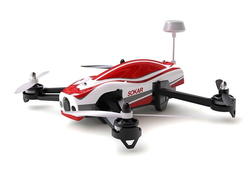 Sokar FPV Drohne RTF mit Sender und 4,3 TFT Display
