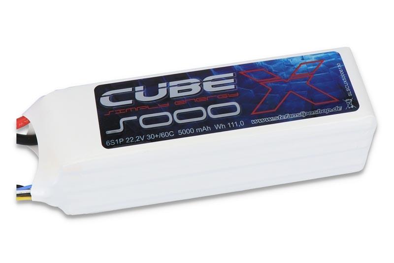 X-CUBE LiPo Akku 5000mAh 6S1P 22,2V 30C/60C