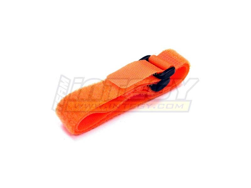 Universal Akku Klettband orange (2) 270mm lang