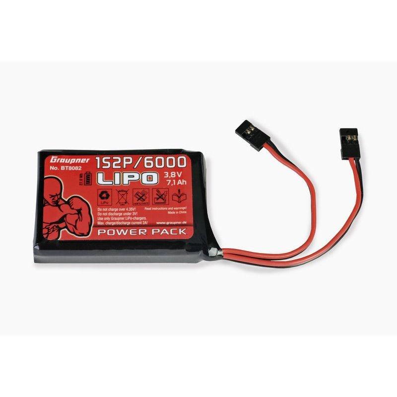Senderakku LiPo 1S2P/6000 3,8 V TX 27Wh